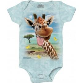 Body bébé Girafe Selfie -...