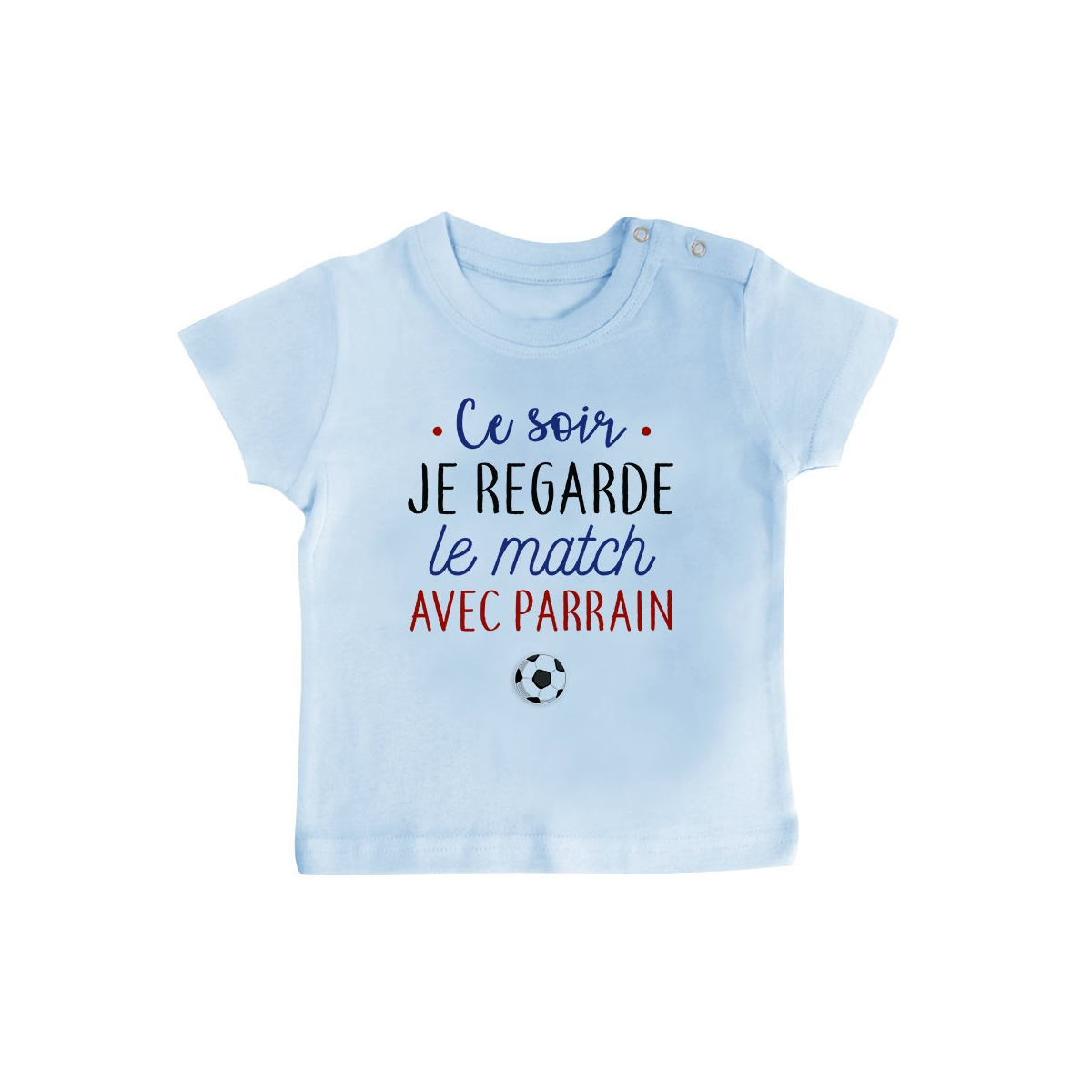 T-Shirt bébé Je regarde le foot avec parrain
