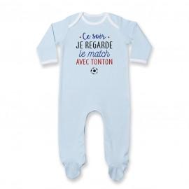Pyjama bébé Je regarde le foot avec tonton