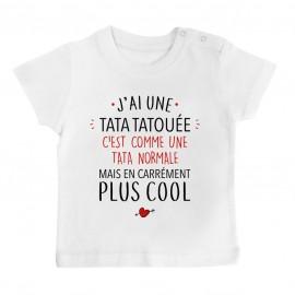 T-Shirt bébé J'ai une tata tatouée