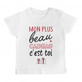T-shirt bébé mon plus beau...