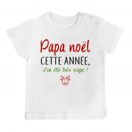 T-shirt bébé papa noel j'ai...
