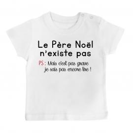 T-shirt bébé le père noel...