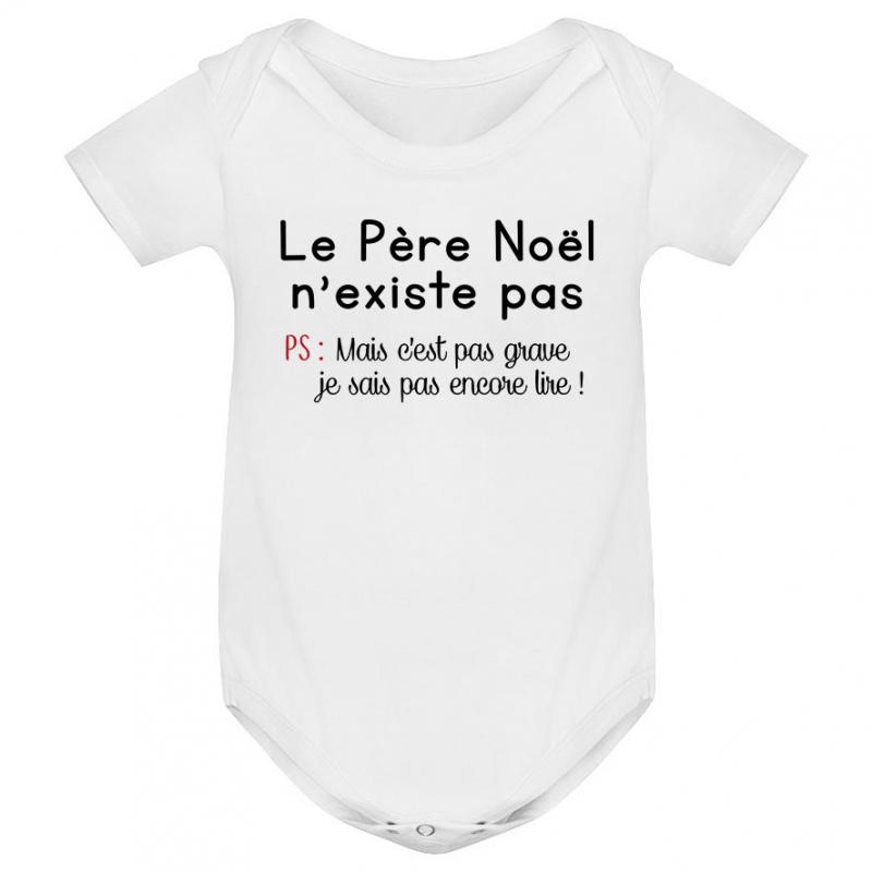 aee19e3607e03 Body bébé le père noel n existe pas