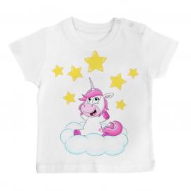 T-shirt bébé Licorne étoiles