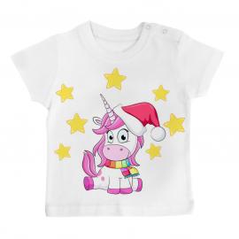 T-shirt bébé Licorne Noël