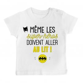 T-shirt bébé Au lit! Batman