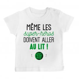 T-shirt bébé Au lit! Hulk
