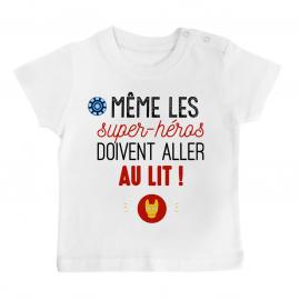 T-shirt bébé Au lit! Iron Man