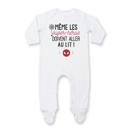 Pyjama bébé Au lit! Spiderman