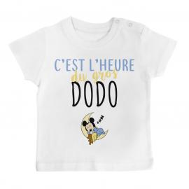 T-shirt bébé C'est l'heure du dodo