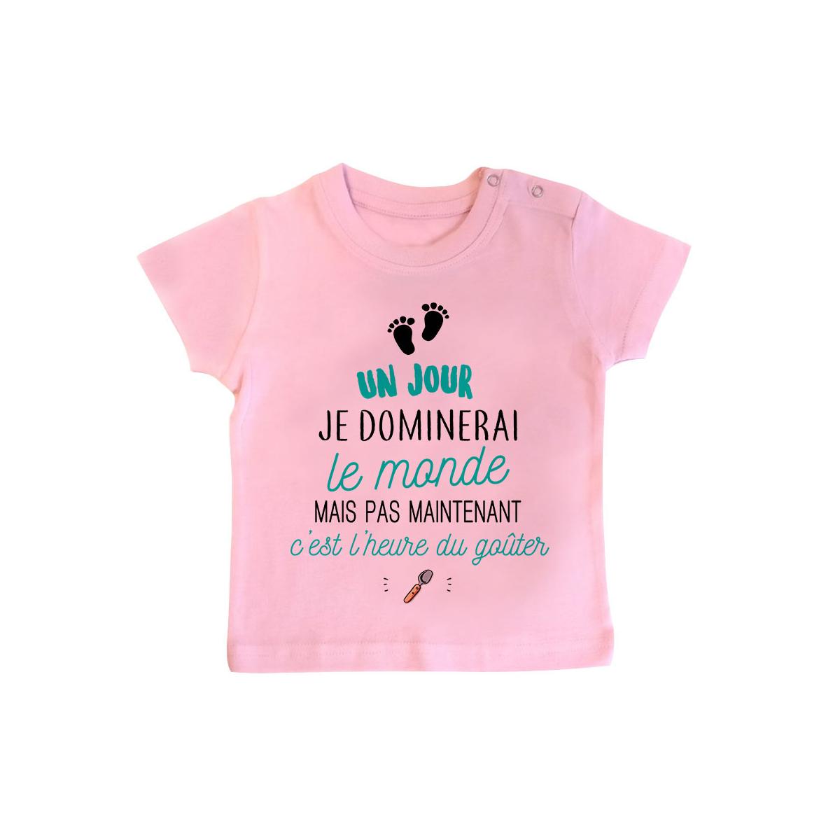 T-shirt bébé C'est l'heure du goûter
