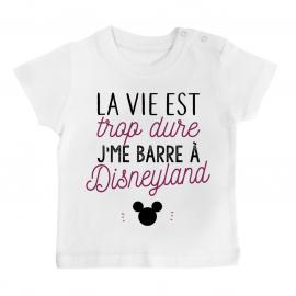 T-shirt bébé J'me barre à Disneyland
