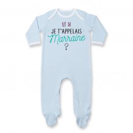 Pyjama bébé Et si je t'appelais Marraine ?
