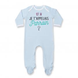 Pyjama bébé Et si je t'appelais Parrain ?