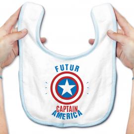 Bavoir bébé Futur Captain America