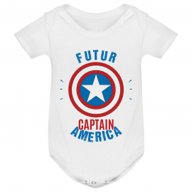 Body bébé Futur Captain America