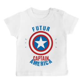 T-shirt bébé Futur Captain America