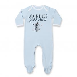 Pyjama bébé J'aime les gros câlins