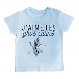 T-shirt bébé J'aime les gros câlins