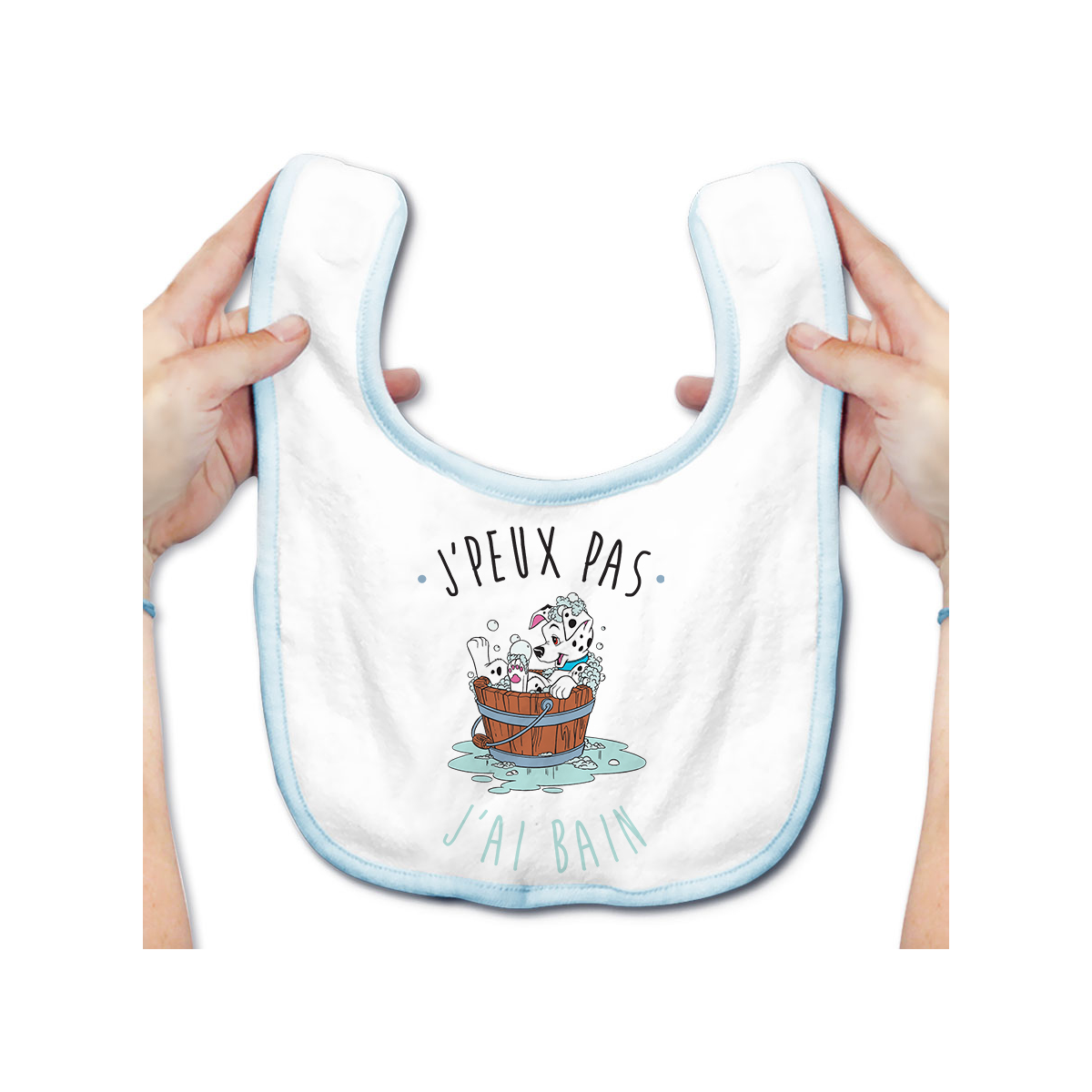 Bavoir bébé J'peux pas j'ai bain