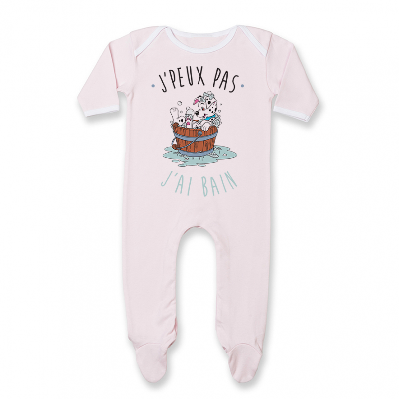 Pyjama bébé J'peux pas j'ai bain