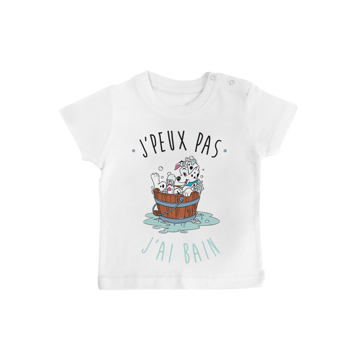 T-shirt bébé J'peux pas j'ai bain
