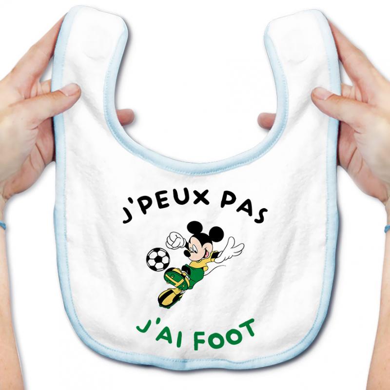 Bavoir bébé J'peux pas j'ai foot