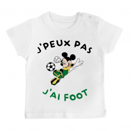 T-shirt bébé J'peux pas j'ai foot