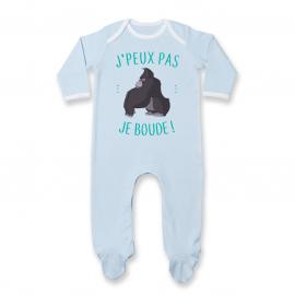 Pyjama bébé J'peux pas je boude