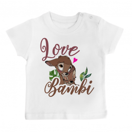 T-shirt bébé Love Bambi
