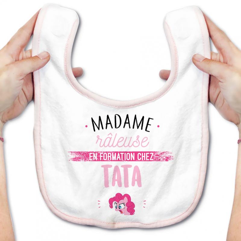 Bavoir bébé Madame râleuse - Tata