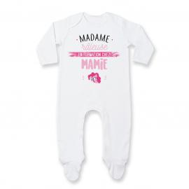 Pyjama bébé Madame râleuse - Mamie