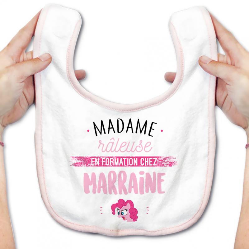 Bavoir bébé Madame râleuse - Marraine