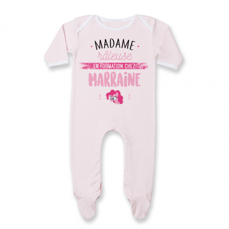 Pyjama bébé Madame râleuse - Marraine