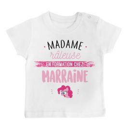 T-shirt bébé Madame râleuse - Marraine