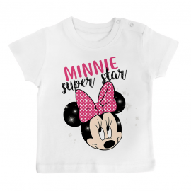 T-shirt bébé Minnie Super Star