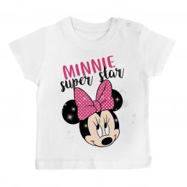 T-shirt bébé Minnie Super Star