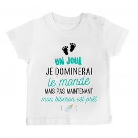 T-shirt bébé Mon biberon est prêt