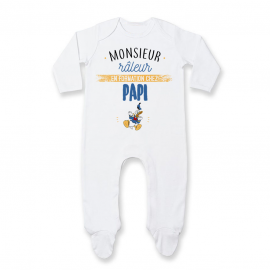 Pyjama bébé Monsieur râleur - Papy