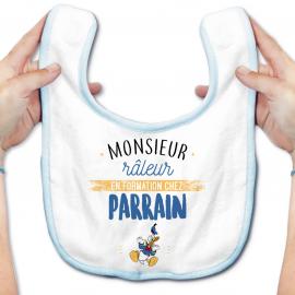 Bavoir bébé Monsieur râleur - Parrain