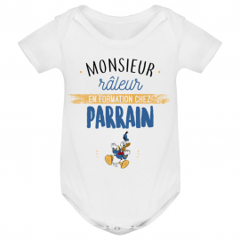 Body bébé Monsieur râleur - Parrain