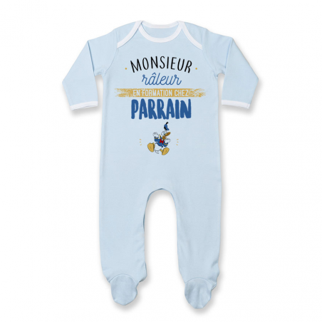 Pyjama bébé Monsieur râleur - Parrain