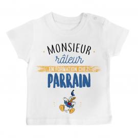 T-shirt bébé Monsieur râleur - Parrain