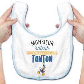 Bavoir bébé Monsieur râleur - Tonton