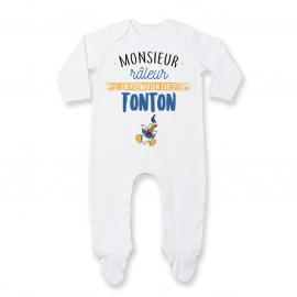 Pyjama bébé Monsieur râleur - Tonton