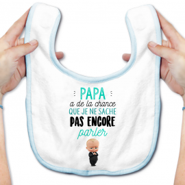 Bavoir bébé Papa a de la chance
