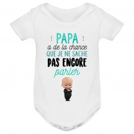 Body bébé Papa a de la chance