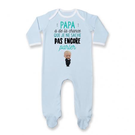 Pyjama bébé Papa a de la chance