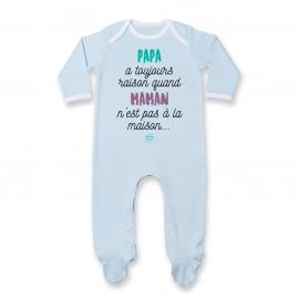 Pyjama bébé Papa a toujours raison